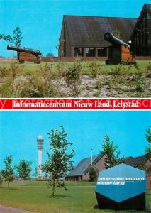 Lelystad Informatiecentrum Nieuw Land Kanonen Sendeturm Lelystad