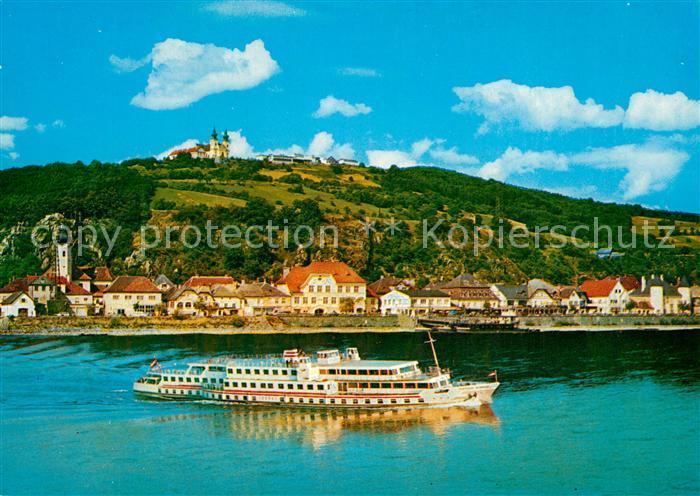 Marbach_Donau und Maria Taferl Motorfahrgastschiff Theodor Koerner Marbach Donau
