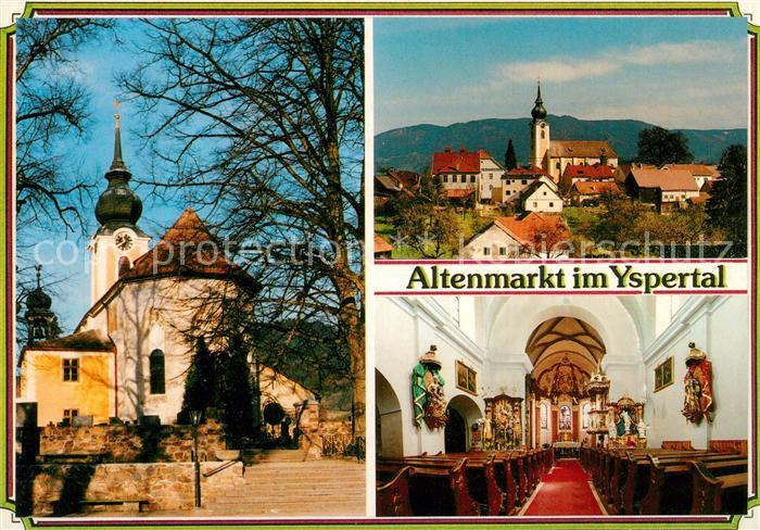 Altenmarkt_Yspertal Gotische Pfarrkirche Maria Magdalena Innenansicht Altenmarkt Yspertal