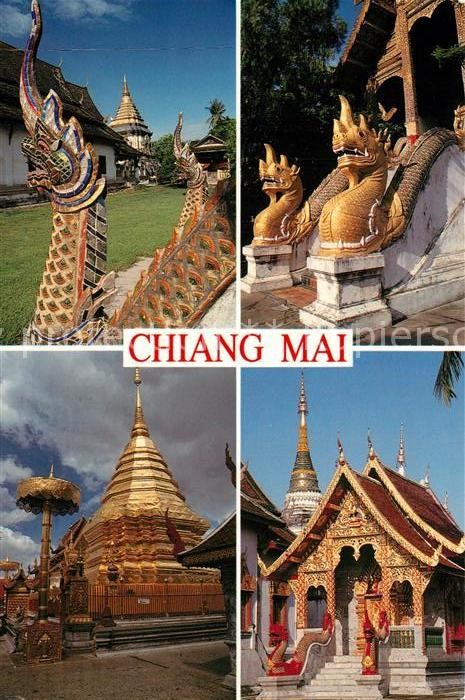 AK / Ansichtskarte Chiang_Mai Wat Chiang Man Wat Thoung Yoo Wat Phra That Doi Suthep  Chiang_Mai