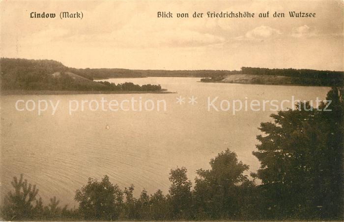 AK / Ansichtskarte Lindow_Mark Blick von der Friedrichshoehe auf den Wutzsee Lindow Mark