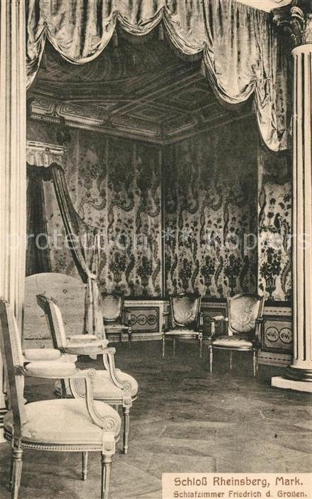 AK / Ansichtskarte Rheinsberg Schloss Schlafzimmer Friedrich des ...