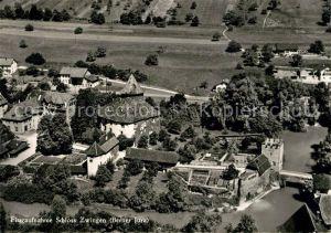 AK / Ansichtskarte Jura Fliegeraufnahme Schloss Zwingen Jura