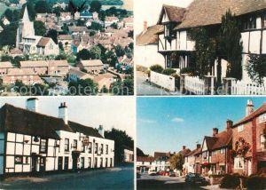 AK / Ansichtskarte Elham_Kent General view Elham Manor Rose and Crown Inn High Street Post Office