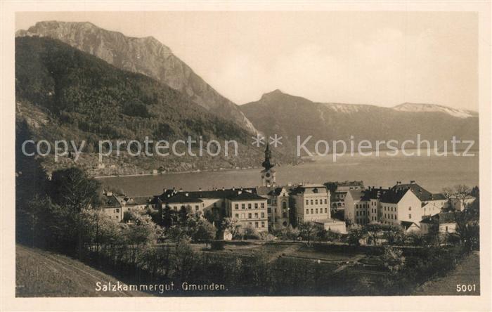 AK / Ansichtskarte Gmunden_Salzkammergut Panorama Gmunden Salzkammergut