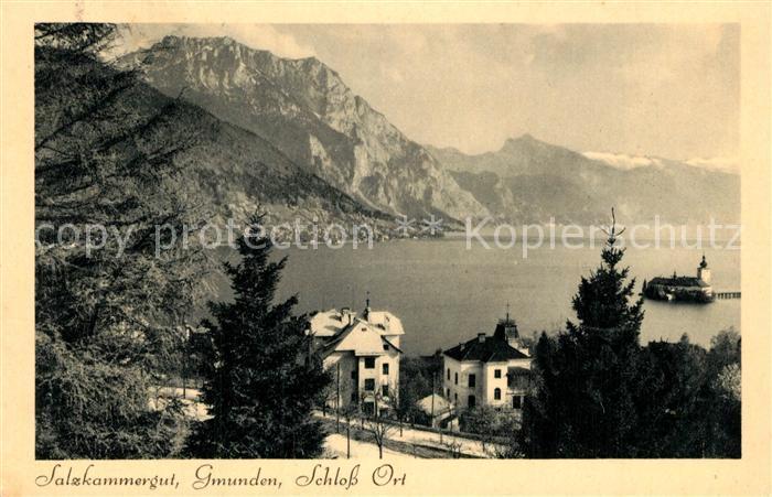 AK / Ansichtskarte Gmunden_Salzkammergut Schloss Ort Gmunden Salzkammergut