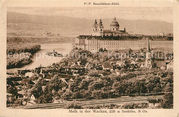 AK / Ansichtskarte Melk_Donau Benediktiner Abtei Melk_Donau
