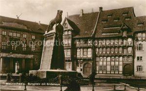 AK / Ansichtskarte Braunschweig Burgplatz mit Gildehaus Braunschweig