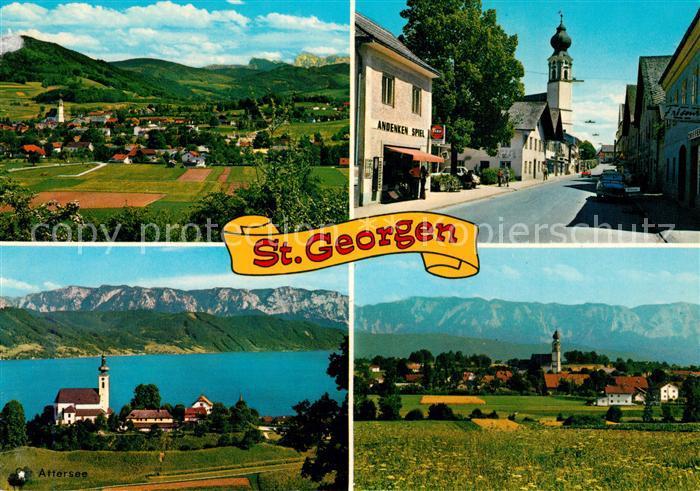 AK / Ansichtskarte St_Georgen_Attergau Kirche Panoramen St_Georgen_Attergau