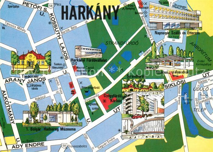 AK / Ansichtskarte Harkany Stadtkarte Harkany