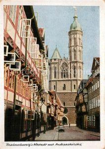 AK / Ansichtskarte Braunschweig Altstadt Weberstrasse mit Andreaskirche Braunschweig