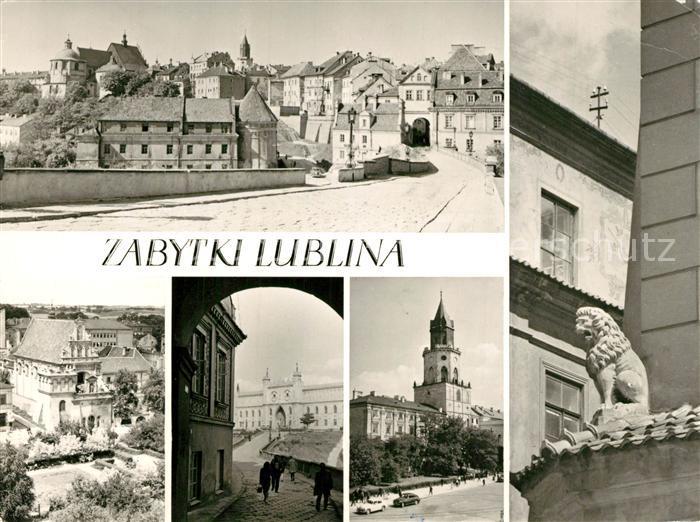 AK / Ansichtskarte Lublin_Lubelskie Starego Miasta Kosciol karmelitow Zamek Wieza Trynitarska Naroznik kamieniey Pode Lwami Lublin Lubelskie