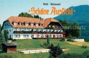 AK / Ansichtskarte Salzburg_Oesterreich Hotel Restaurant Schoene Aussicht auf dem Heuberg Salzburg_Oesterreich