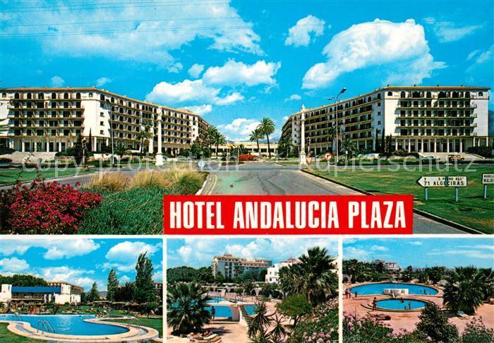 AK / Ansichtskarte Marbella_Andalucia Hotel Andalucia Plaza Swimming Pool Marbella_Andalucia