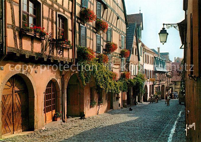 AK / Ansichtskarte Riquewihr_Haut_Rhin La Rue Principale Riquewihr_Haut_Rhin