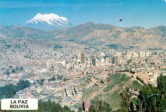 AK / Ansichtskarte La_Paz_Bolivia Fliegeraufnahme La_Paz_Bolivia