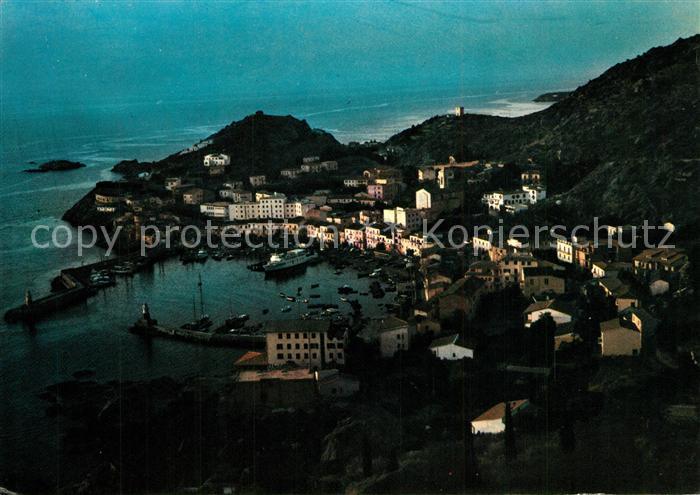 AK / Ansichtskarte Isola_del_Giglio Hafen am Abend Isola_del_Giglio