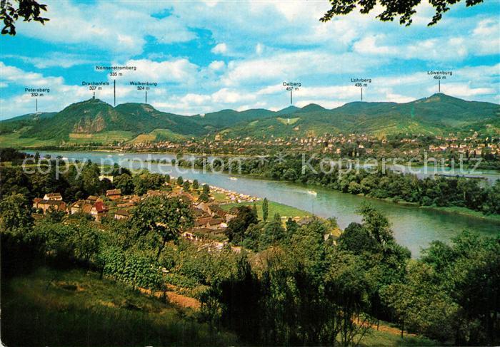 AK / Ansichtskarte Siebengebirge Rheinpartie  Siebengebirge