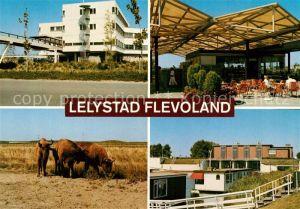 AK / Ansichtskarte Lelystad Gebaeude Wisente Restaurant Terrasse Hausboot Lelystad