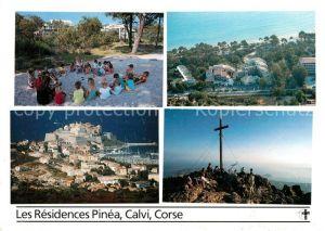 AK / Ansichtskarte Calvi Les Residences Pinea Gipfelkreuz Calvi