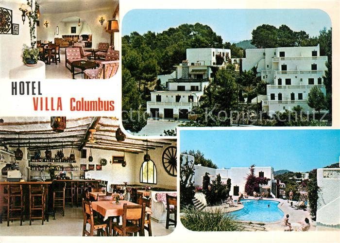 AK / Ansichtskarte Paguera_Mallorca_Islas_Baleares Hotel Villa Columbus Restaurant Swimming Pool Paguera_Mallorca