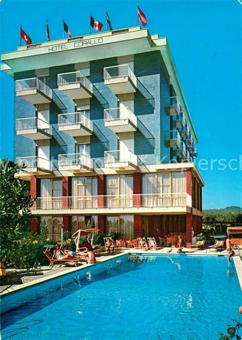 AK / Ansichtskarte Villa_Rosa_Martinsicuro Hotel Corallo Swimming Pool Villa_Rosa_Martinsicuro