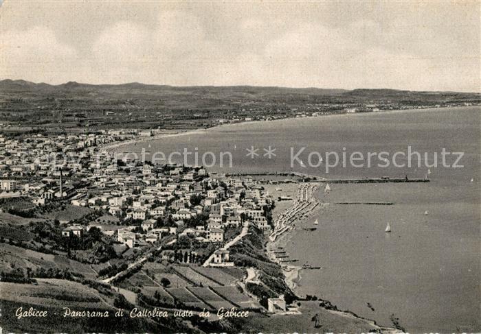AK / Ansichtskarte Gabicce_Mare Panorama di Cattolica visto da Gabicce Gabicce Mare