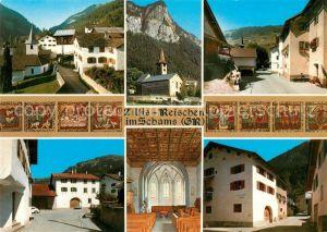AK / Ansichtskarte Zillis Reischen Kirche Ortsansicht Zillis
