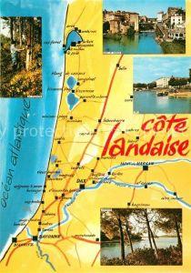 AK / Ansichtskarte Sore Panoramakarte Cote Landaise Sore
