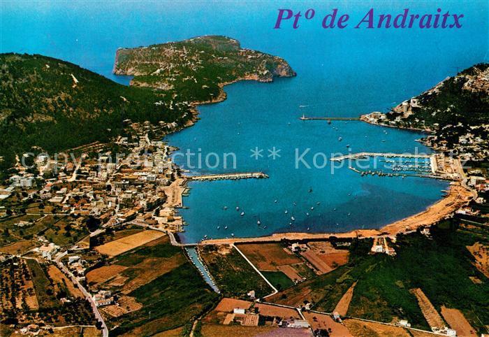 AK / Ansichtskarte Andraitx Fliegeraufnahme Hafe Andraitx