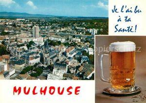 AK / Ansichtskarte Mulhouse_Muehlhausen Vue aerienne une bierre Mulhouse Muehlhausen