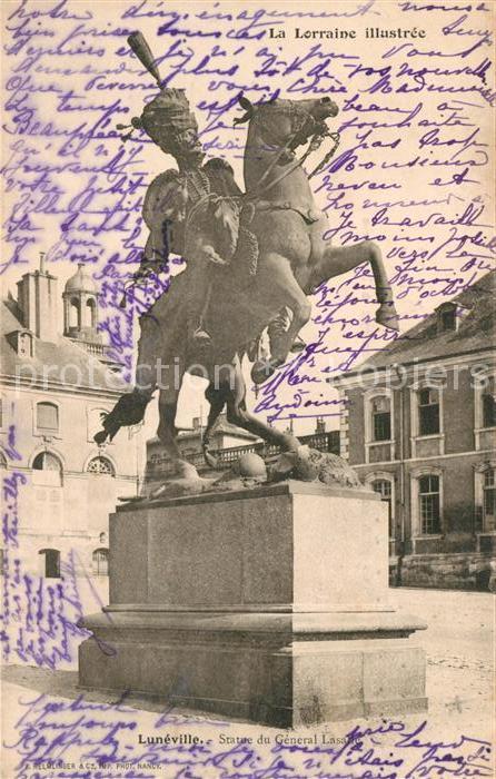 AK / Ansichtskarte Luneville Statue du General Lasalle Luneville