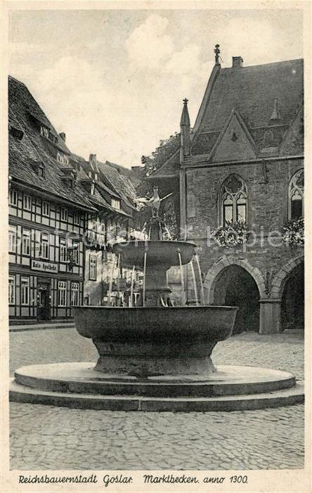 AK / Ansichtskarte Goslar Marktbecken Goslar