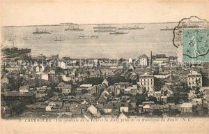 AK / Ansichtskarte Cherbourg_Octeville_Basse_Normandie Vue generale de la Ville et la Rade prise de la Montagne du Roule Cherbourg_Octeville