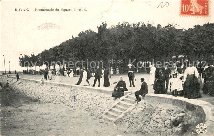 AK / Ansichtskarte Royan_Charente Maritime Promenade du Square Botton Royan Charente Maritime