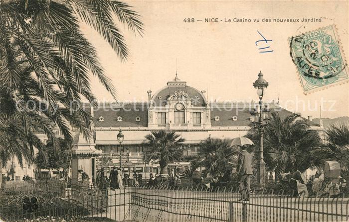 AK / Ansichtskarte Nice_Alpes_Maritimes Le Casino vu des nouveaux Jardins Nice_Alpes_Maritimes