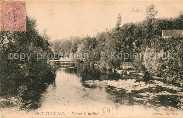 AK / Ansichtskarte Arcy sur Cure_Yonne Vue sur la Riviere Arcy sur Cure Yonne