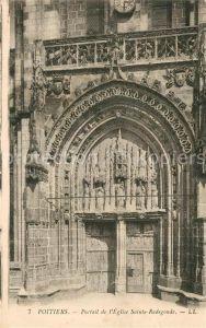 AK / Ansichtskarte Poitiers_Vienne Portail de l'Eglise Sainte Radegonde Poitiers Vienne