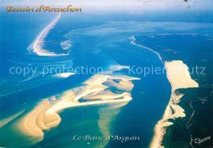 AK / Ansichtskarte Arcachon_Gironde Fliegeraufnahme Bassin Le Banc d`Arguin Arcachon Gironde