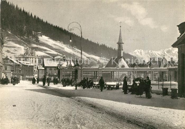 AK / Ansichtskarte Davos_Platz_GR Kurpromenade Davos_Platz_GR