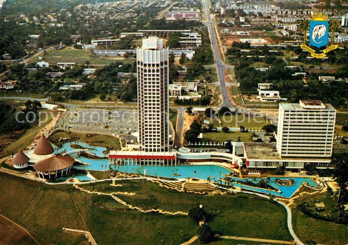 AK / Ansichtskarte Abidjan Hotelanlagen Fliegeraufnahme Abidjan