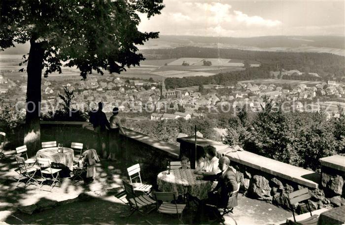 AK / Ansichtskarte Bad_Driburg Blick von der Iburg Restaurant Sachsenklause Bad_Driburg