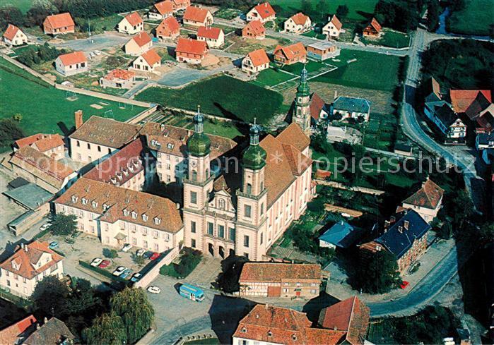 AK / Ansichtskarte Ebersmunster Eglise Abbatiale et Couvent vue aerienne Ebersmunster