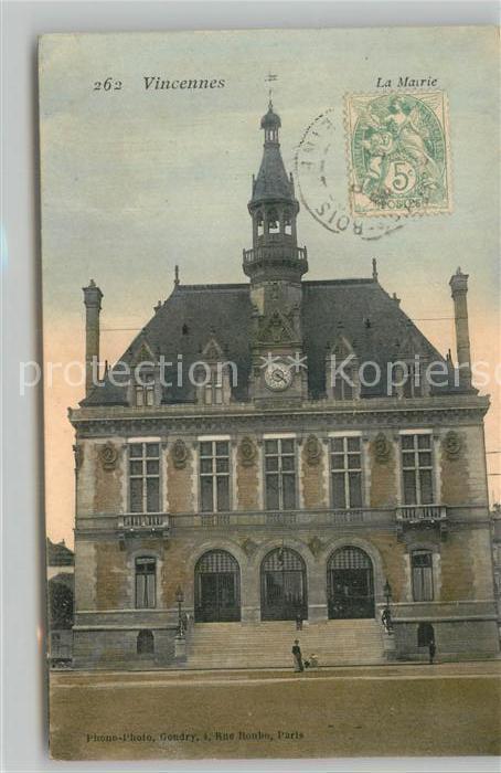 AK / Ansichtskarte Vincennes La Mairie Vincennes