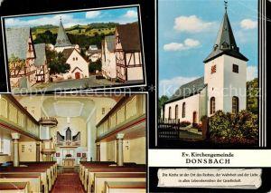 AK / Ansichtskarte Donsbach Evangelischer Kirche Donsbach