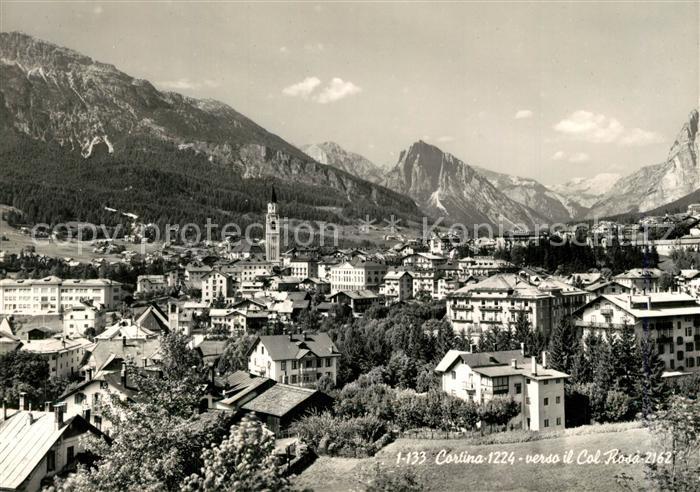AK / Ansichtskarte Cortina_d_Ampezzo verso il Col Rosa Cortina_d_Ampezzo