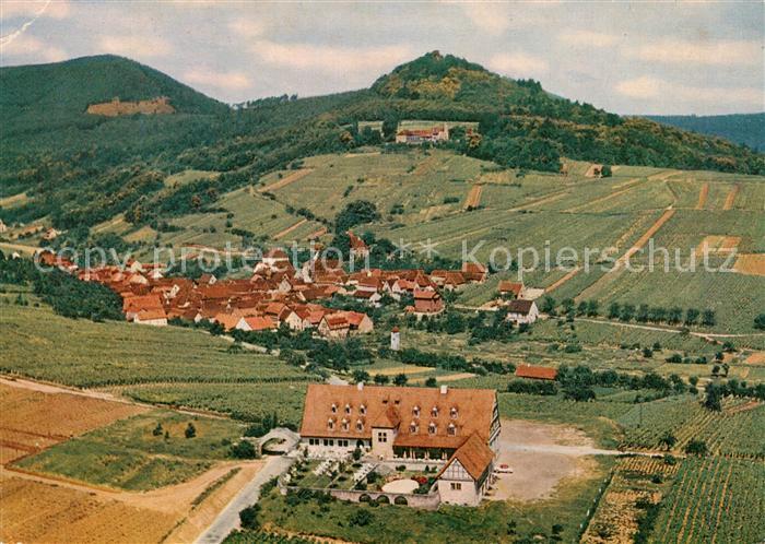 AK / Ansichtskarte Albersweiler Hotel Leinsweiler Hof Fliegeraufnahme Albersweiler