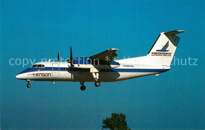AK / Ansichtskarte Flugzeuge_Zivil Henson Airlines DeHavilland DHC 8 102 Dash 8 N921HA c n 089 Flugzeuge Zivil