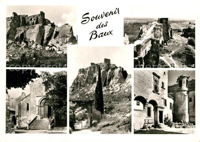 AK / Ansichtskarte Les_Baux de Provence Ruines du Chateau Seignaurial Eglise St Vincent Les_Baux de Provence