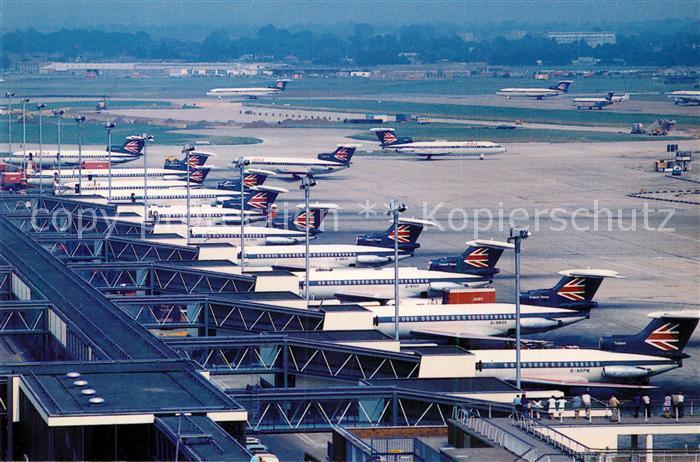 AK / Ansichtskarte Flugzeuge_Zivil Trident Airliners London Heathrow Airport  Flugzeuge Zivil